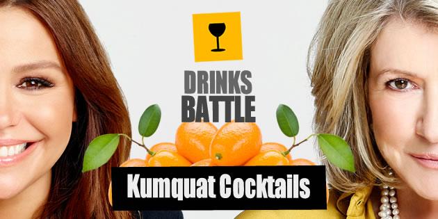 #DrinksBattle: Kumquat Cocktails. Martha Stewart Versus Rachael Ray photo