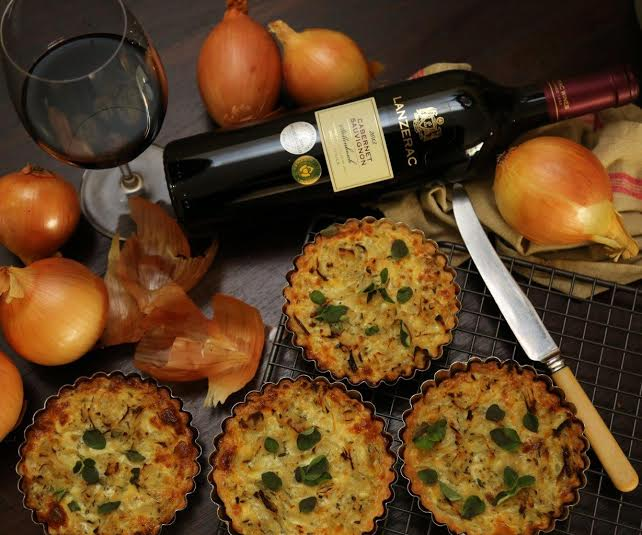 French Onion Tartlets paired with Cabernet Sauvignon photo
