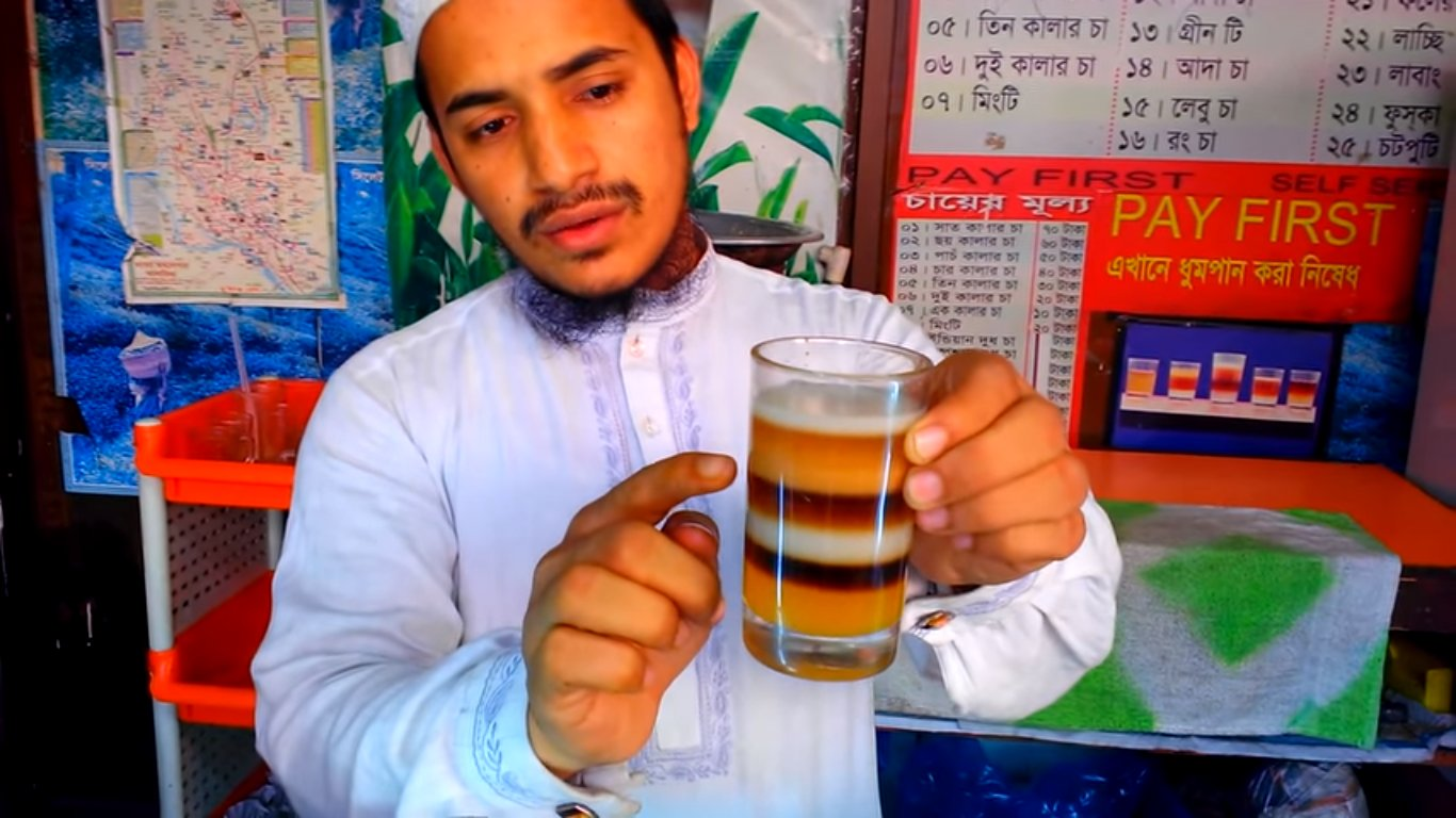 Bangladeshi man invents seven-layered Chai Tea photo
