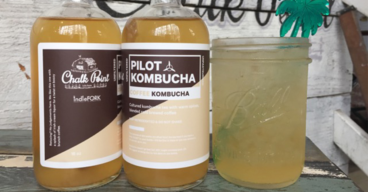 You next hangover cure. Coffee kombucha. photo