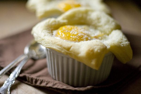 Baked Eggs in Puff Pastry Cups photo