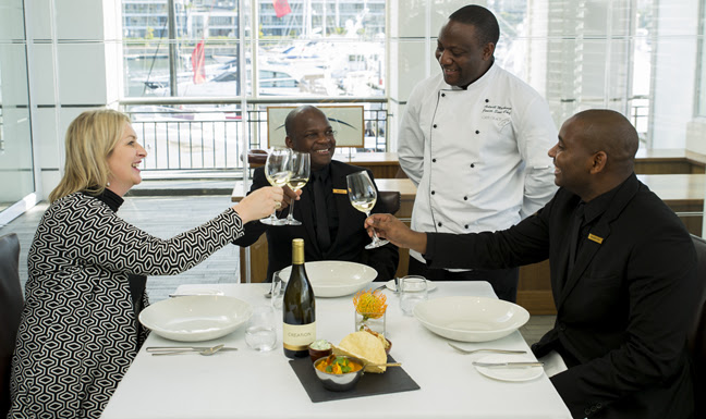 Sommelier's Choice: Marlvin Gwese and Brian Mahlangu at the Cape Grace Hotel photo