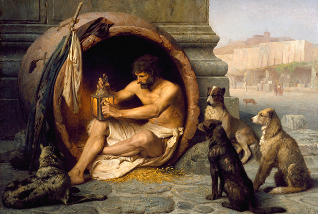 Diogenes of Sinope, the Ancient Philosopher Who Lived in a Wine Barrel photo