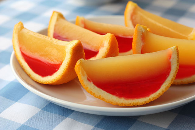 How to make Tequila Sunrise Orange Slice Jell-O shots photo