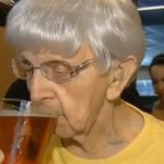 103-year-old Woman says drinking beer is the secret to long life photo