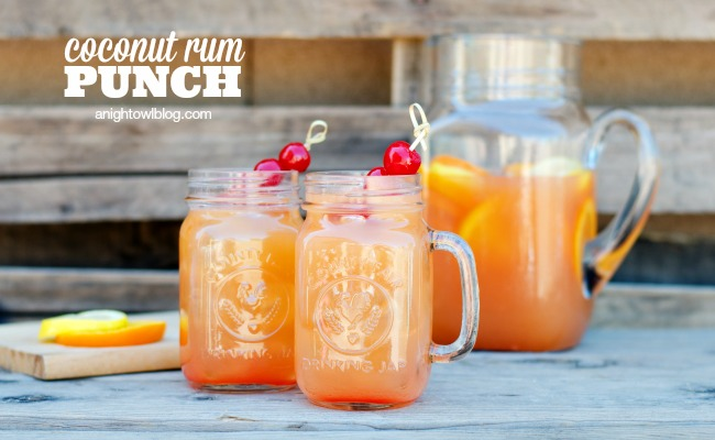 Coconut Rum Punch feature 10 Rum Punch Cocktails to celebrate Rum Punch Day, cause we love saying Rum Punch. Rum Punch