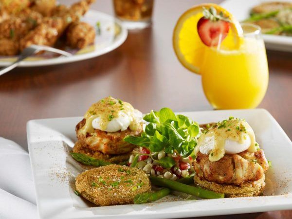 Crab Cake Eggs Benedict with Chipotle Hollandaise photo