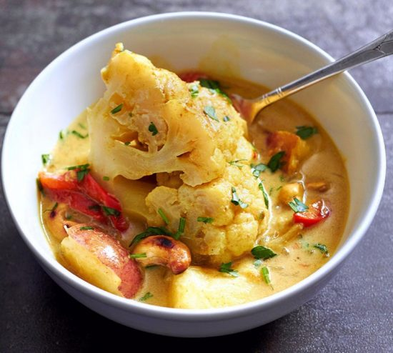 Slow Cooker Cashew and Cauliflower Curry photo