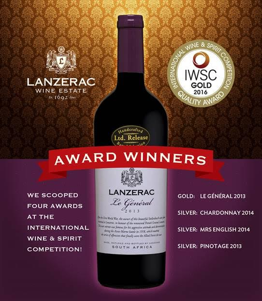 Lanzerac excels at the 2016 International Wine and Spirit Competition photo