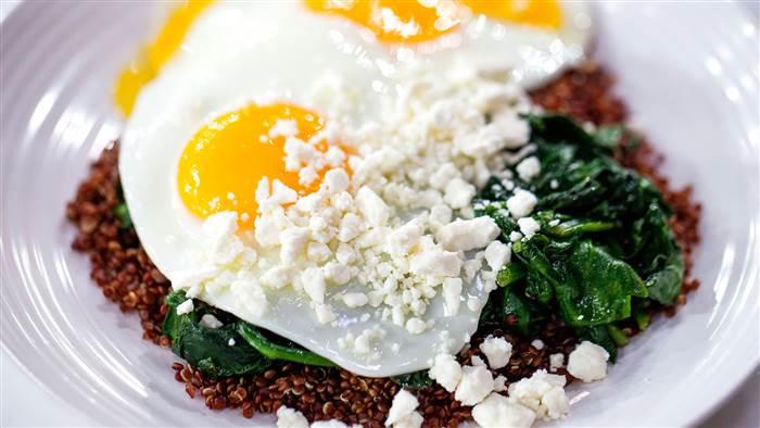 Egg, Spinach, Quinoa and Feta Power Breakfast photo