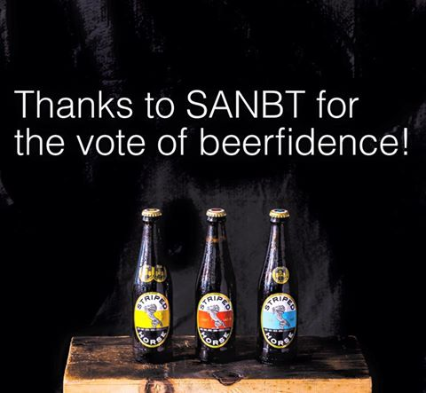 Striped Horse Pilsner wins the trophy for best overall light beer at the SA National Beer Awards photo