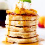 Bourbon Soaked Peach Pancakes photo