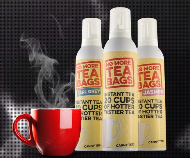 Tea from a spray can promises end to soggy tea bags photo