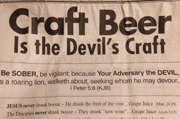 Anti-Craft Beer Ad Campaign by Texas Church Backfires Big Time photo