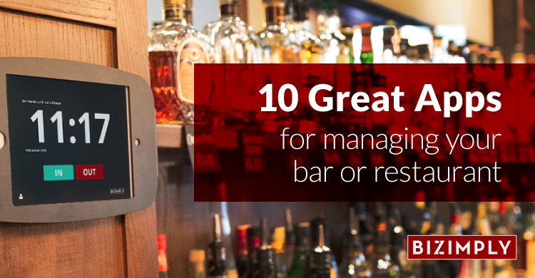 10 Great Apps for Managing Your Bar or Restaurant photo