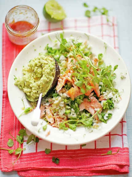 Simple Sushi Salad with Sauvignon Blanc photo