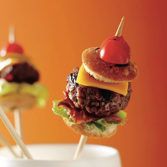 Mini Burger on a Stick photo