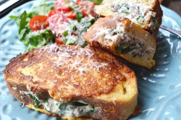 Savoury Mushroom Stuffed French Toast photo