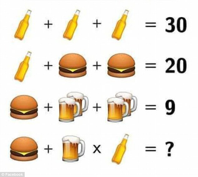 Are YOU smart enough to solve this beer and burger brainteaser? photo