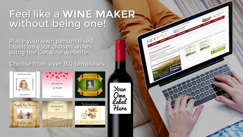 Avoid Christmas gifting chaos with GetWine`s personalised wine label service photo