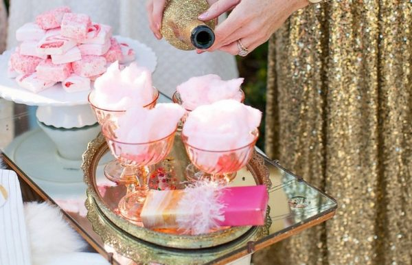 Cotton Candy Champagne Cocktail with a dash of Caperitif photo