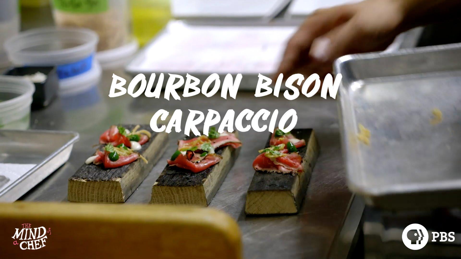 Chef Edward Lee Makes Bourbon Bison Carpaccio photo