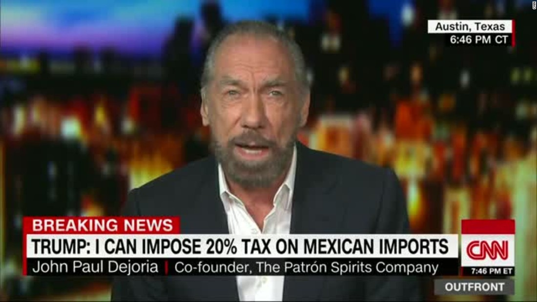 Patron tequila co-founder: Americans will pay if Trump taxes Mexico for wall photo