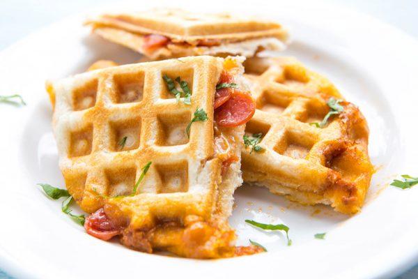 Cheezy Pizza Waffles photo