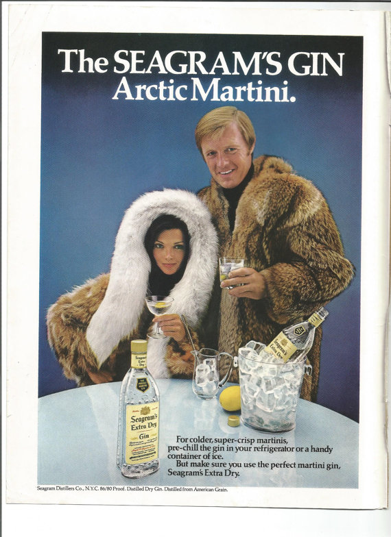 artic martini Perfect your Gin Cocktail skills with these retro adverts