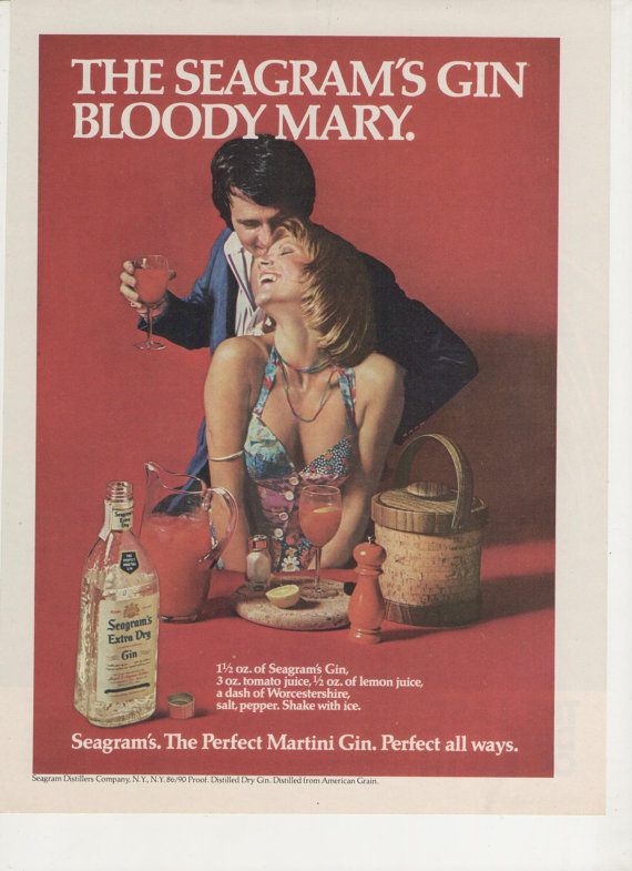 bloody mary ad Perfect your Gin Cocktail skills with these retro adverts
