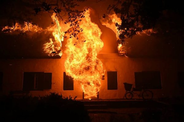 Historic Wine Estate in Paarl destroyed by raging wildfire photo