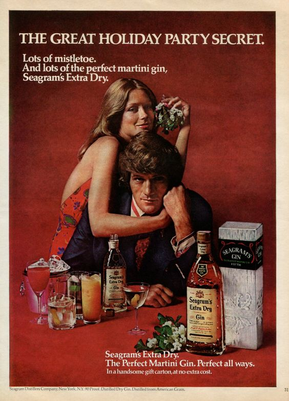 merry gin Perfect your Gin Cocktail skills with these retro adverts