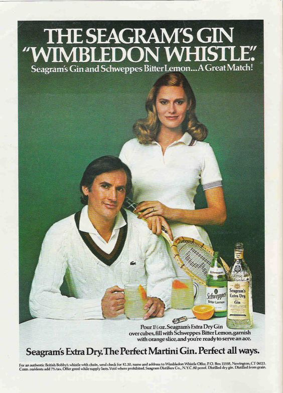 seagram wimbilton Perfect your Gin Cocktail skills with these retro adverts