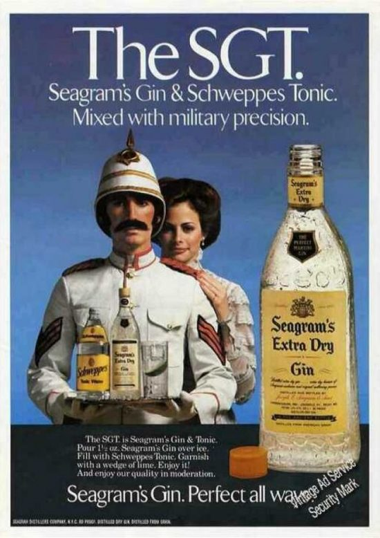 sgt e1485356209300 Perfect your Gin Cocktail skills with these retro adverts