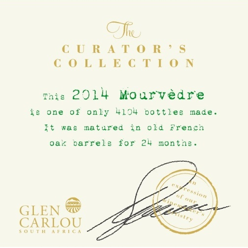 Wine Review: Glen Carlou Curator's Collection Mourvedre 2014 photo