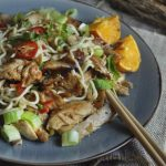 Oriental Chicken Noodle Salad with Boland Cellar Reserve No 1 Chenin Blanc 2015 photo