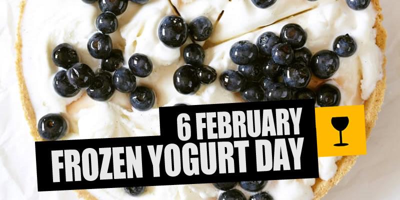 Frozen Yogurt Pie with Boozy Blueberries photo