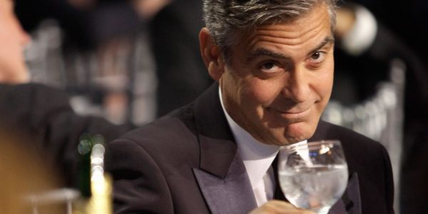 George Clooney celebrates upcoming fatherhood with tequila photo