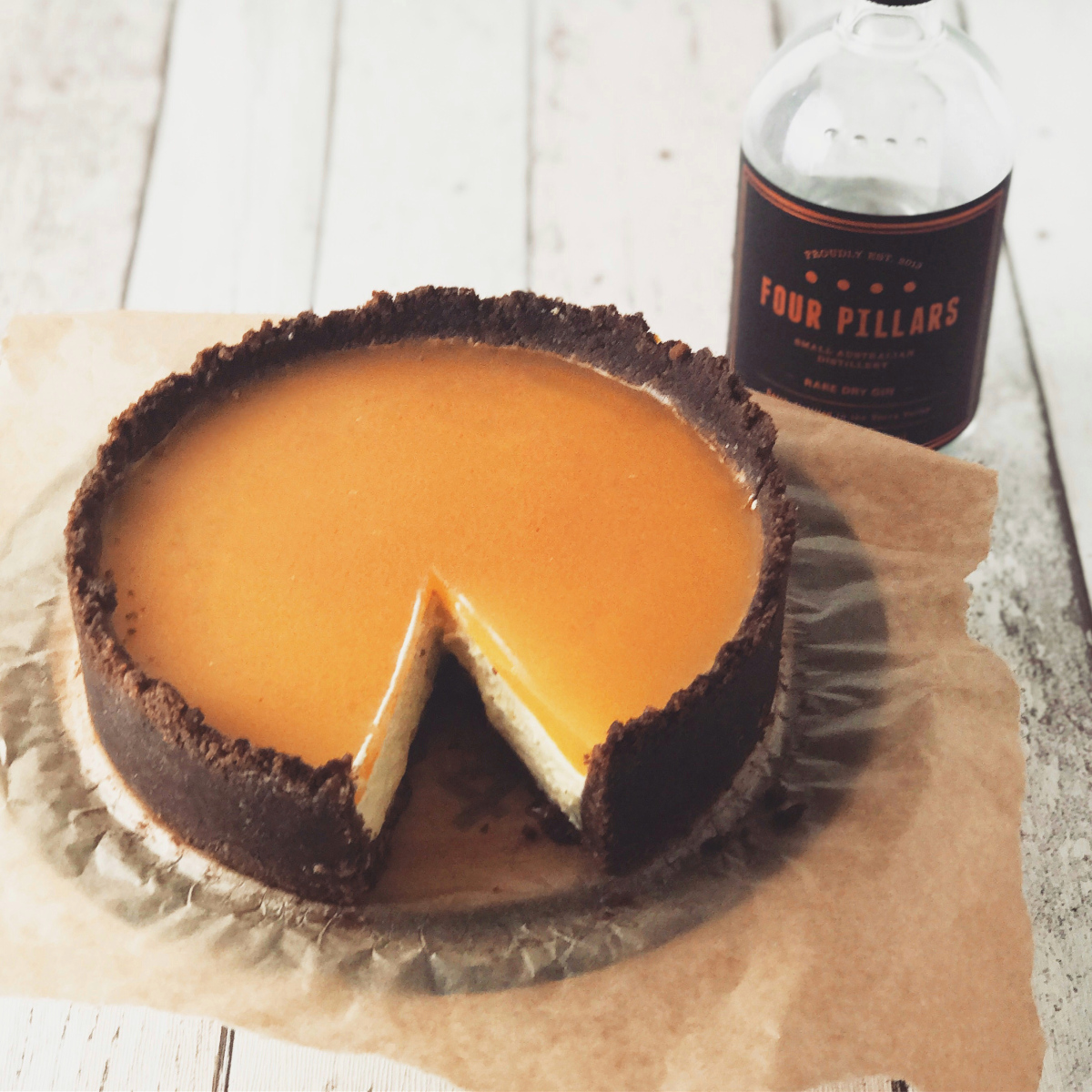 Chocolate Orange Gin Cheesecake photo