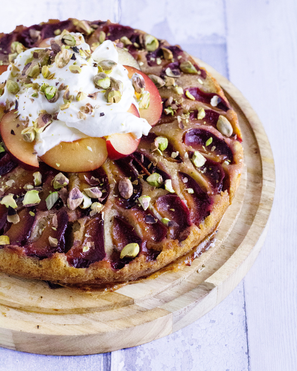Plum and Pistachio Gin Cake photo