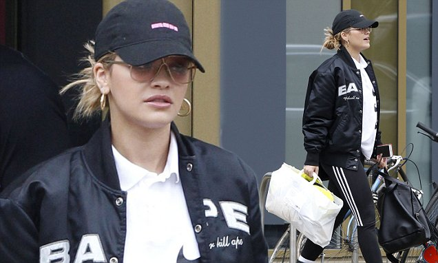 Rita Ora rocks a sports casual look in bomber jacket photo