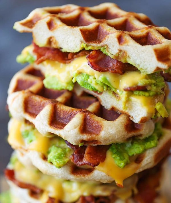Bacon and Avocado Waffle with Grilled Cheese photo