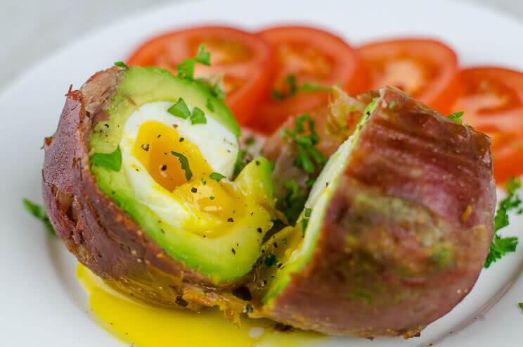 Bacon-wrapped Avocado Eggs photo