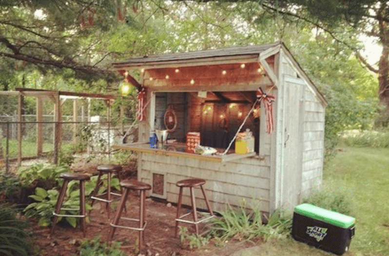 Forget Man Caves, Backyard Bar Sheds Are the New Trend photo