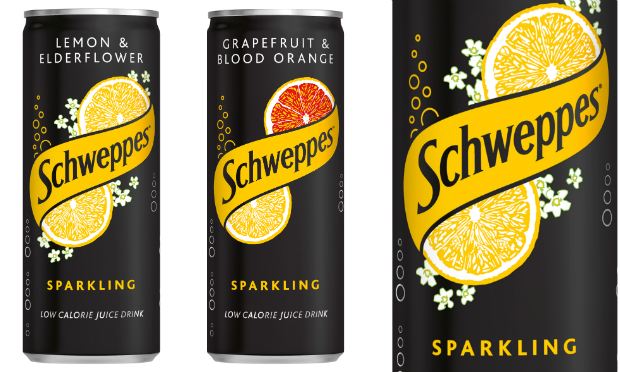 New Sleek Can For Schweppes Sparkling Juice Drink photo