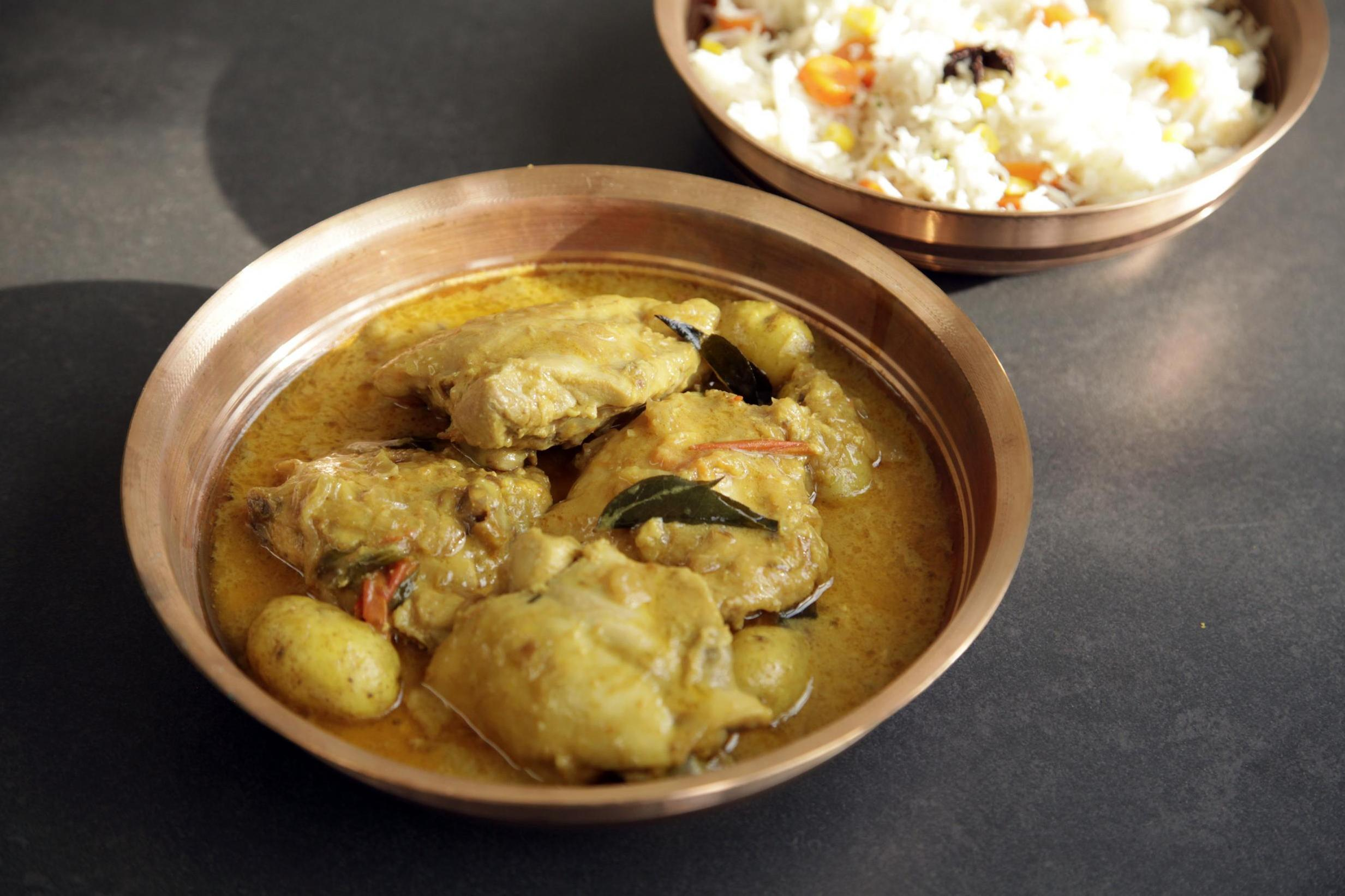 Coconut Chicken Potato Curry By Indian Cook Mallika Basu photo