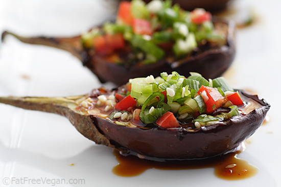 Grilled Baby Eggplants with Korean Barbecue Sauce photo