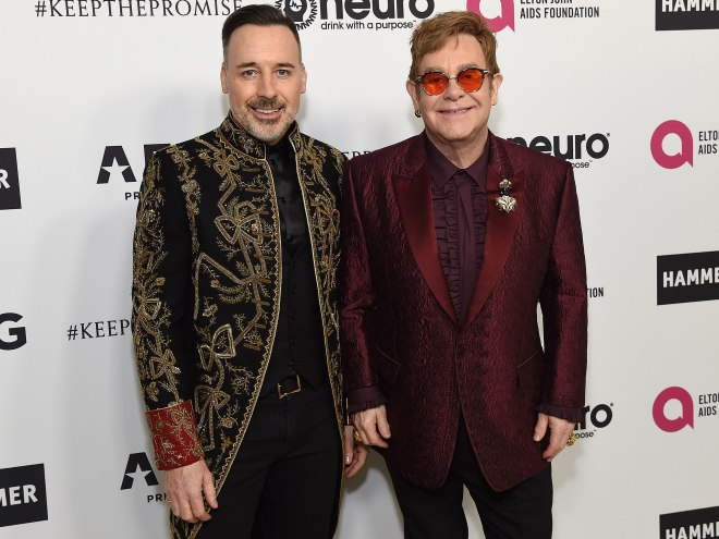 Elton John Rings In 70 With Help From Lady Gaga And More At Star-studded L.a. Party photo