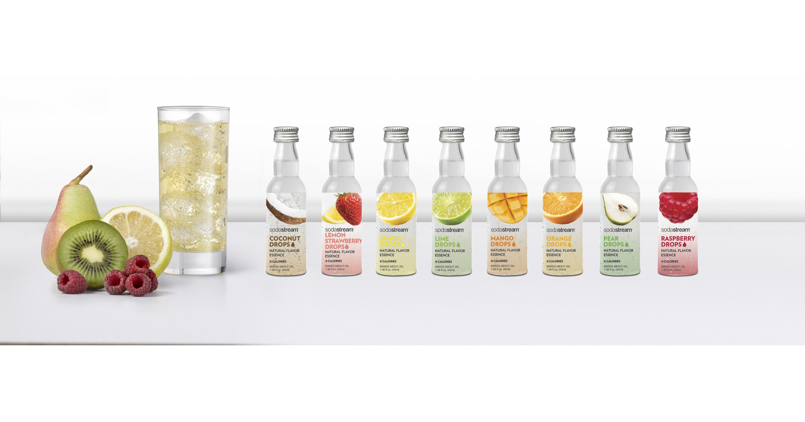 Sodastream Introduces Fruit Drops — Naturally Flavored, Zero Calorie Water Essence photo