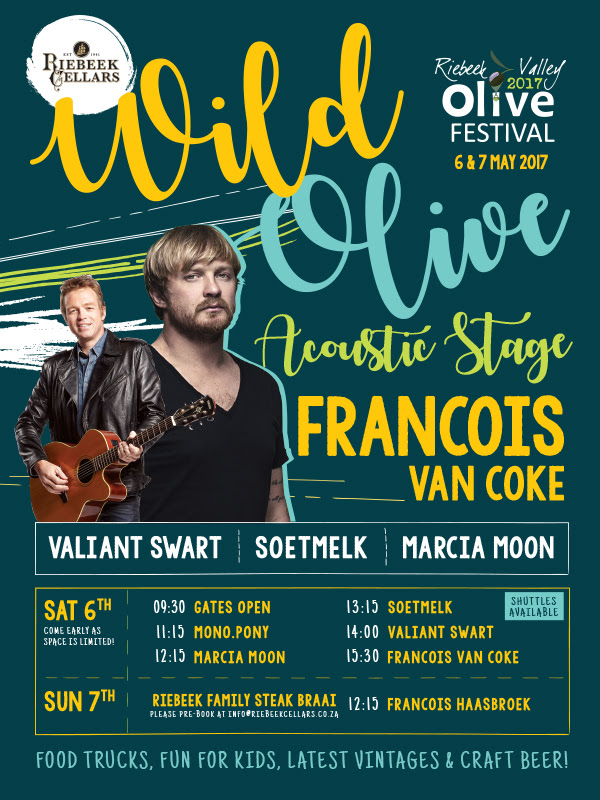 Riebeek Cellars presents the Wild Olive Acoustic Stage photo